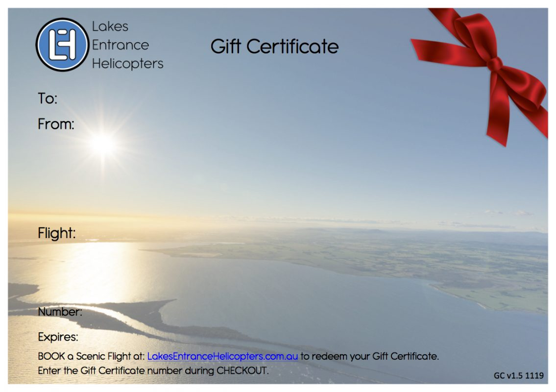 Gift Certificate v1.5 - Front Page